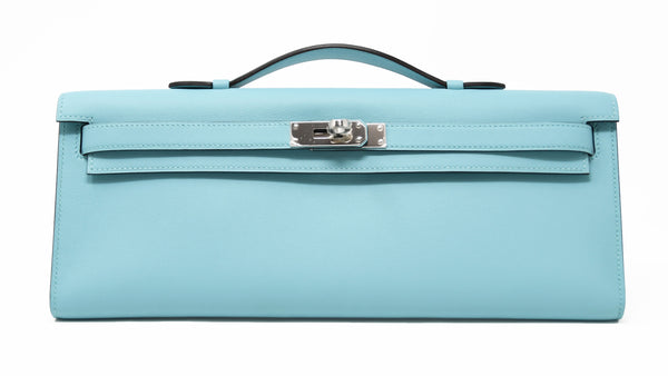 Hermes Kelly Cut Blue Atoll Swift PHW