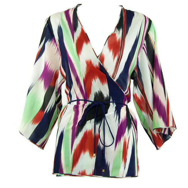 Missoni Mare Printed Wrap Top