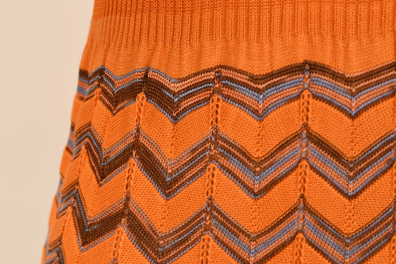 M Missoni Orange Sleevless Maxi Dress