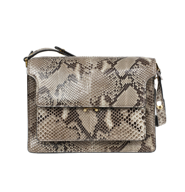Marni Snakeskin Shoulder Bag