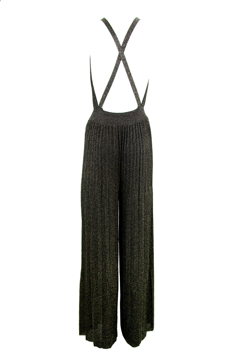 M Missoni Black & Metallic Knit Jumpsuit