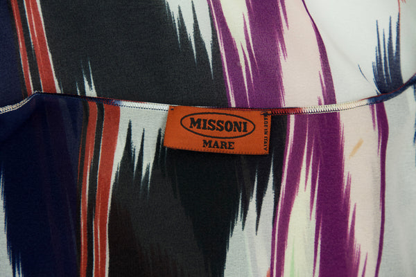 Missoni Mare Printed Wrap Top  - Size S