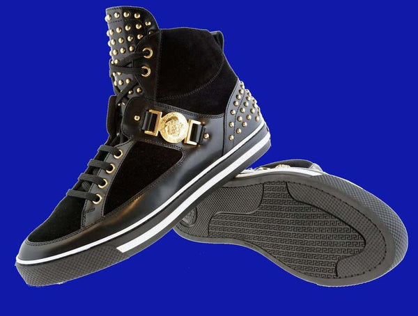 NEW VERSACE STUDDED HIGH-TOP Sneakers