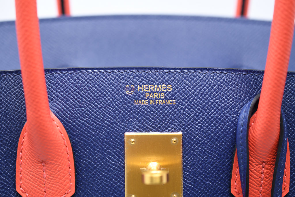 ad071dfe3c59 ... Hermes Birkin Bag 35cm Bicolor Navy with Salmon with Gold Hardware ...