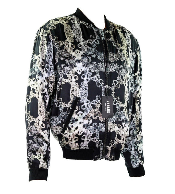 New VERSACE VERSUS 100% Silk Bomber Jacket for Men