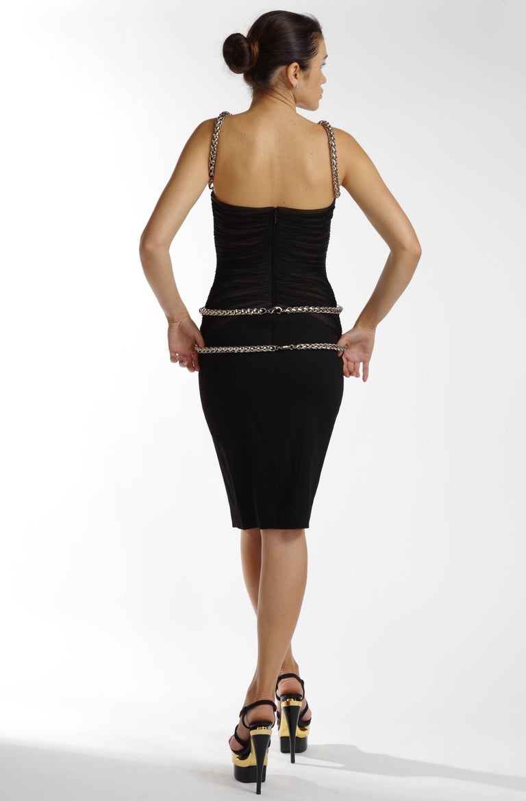 Versace Medusa Black Dress