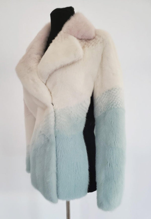 New Versace Pastel Mink Fur Jacket