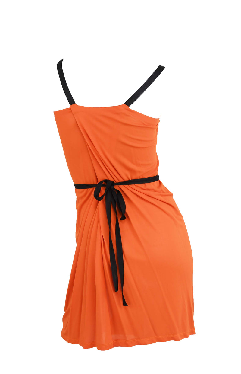 Prada Orange Silk Dress