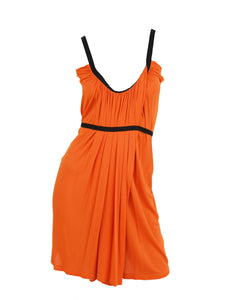 Prada Orange Silk Dress - Size M