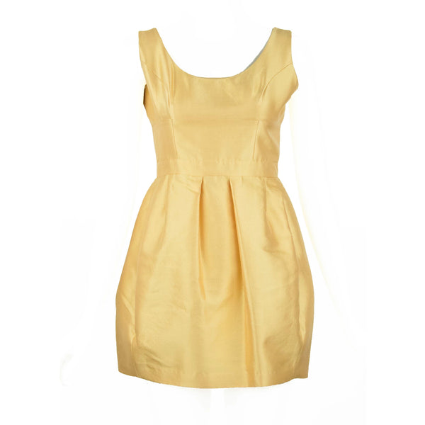 Prada Yellow Silk & Wool Sleeveless Dress