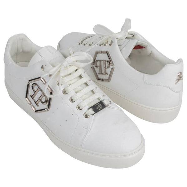 Philipp Plein Shoe Men's White Simpson Sneaker 42 / 9