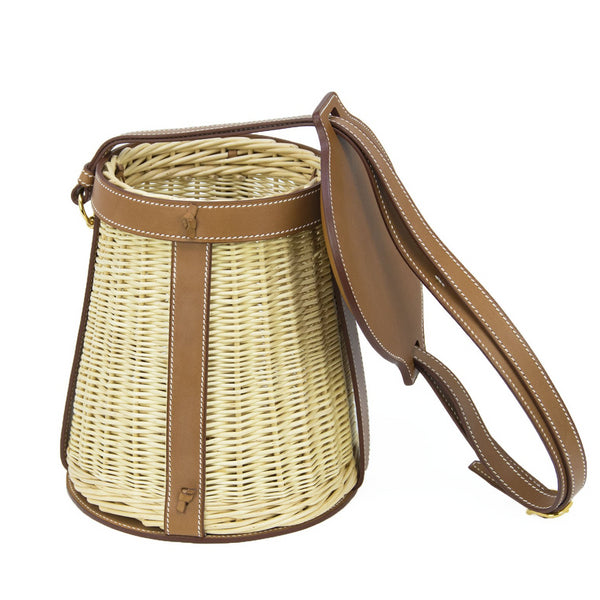 Hermes Wicker Barenia Farming Picnic Bag