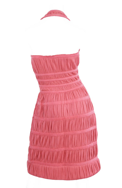 Vintage Alaia Pink Knit Halter Dress
