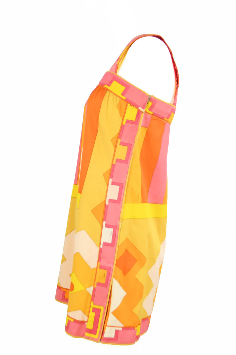 Vintage Pucci Yellow & Pink A-Line Dress