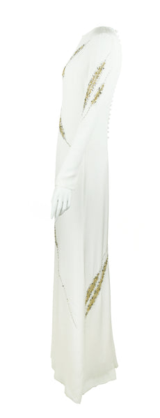 Pucci Long Sleeve Silk Gown with Beading - Size US 2