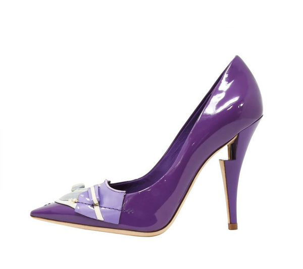 Louis Vuitton After Dark Riviera Violet Patent Leather Pumps