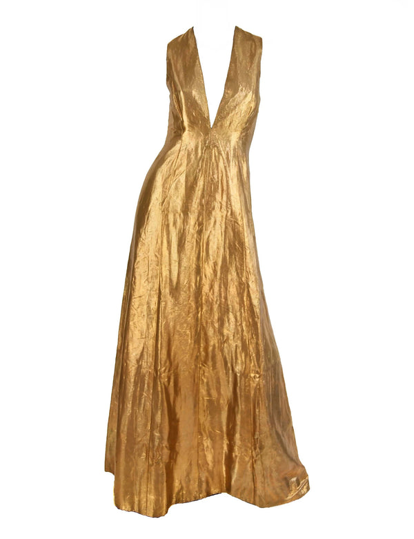 Ralph Lauren Gold/Bronze Evening Gown