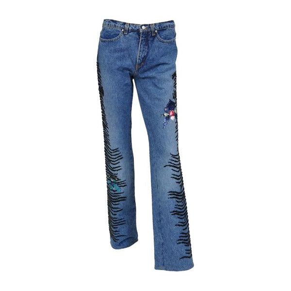 ROBERTO CAVALLI ART COLLECTION Embellished Jeans