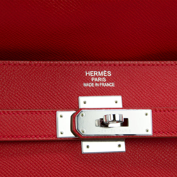 Hermes Kelly Sellier Bag 35cm Limited Edition Flag Bag w Palladium Hardware