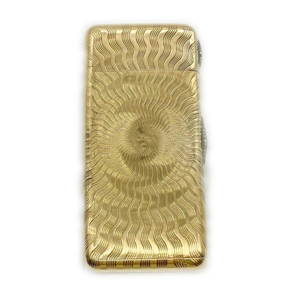 Retro Cartier Gold Compact with Diamonds