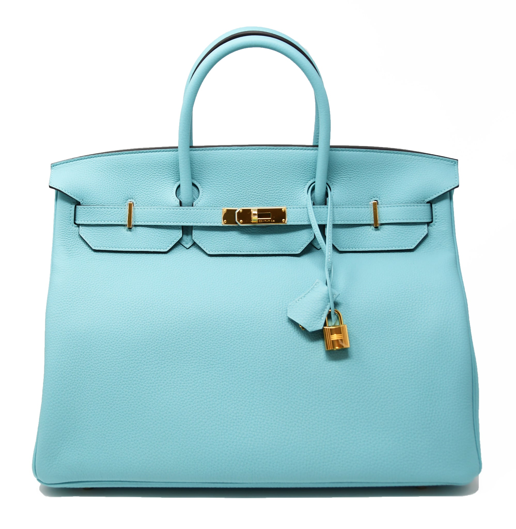 Hermes Birkin Bag 40cm Blue Atoll with Gold Hardware