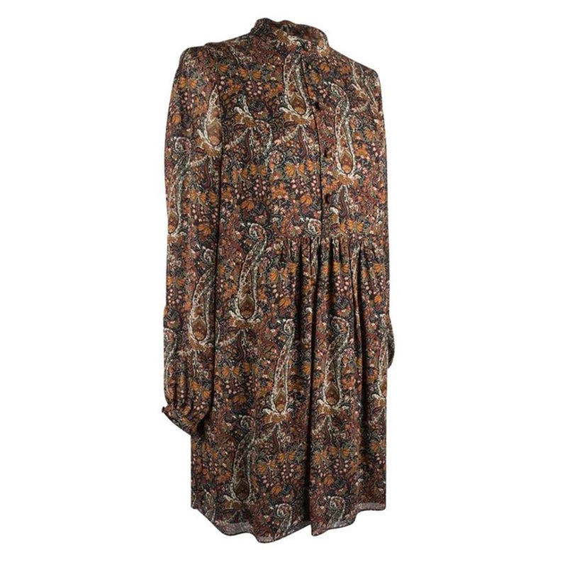 Saint Laurent Tunic / Dress Earth Tone Floral Paisley Print 38 / 6