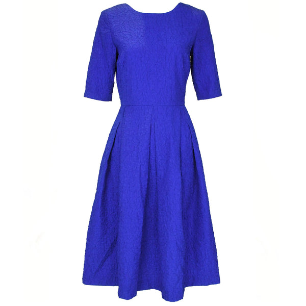 Saloni Bright Blue Brocade Dress