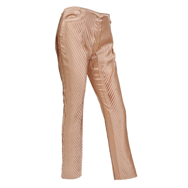 S/S 2004 GUCCI by TOM FORD NUDE SILK PANTS