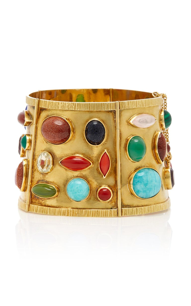 Sanz Multi-Color Gemstone Gold Bracelet