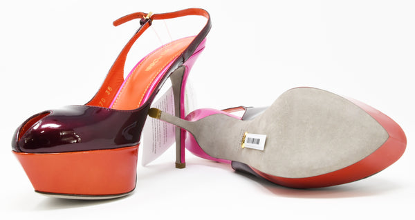 Sergio Rossi Multi Colored Platform Heel