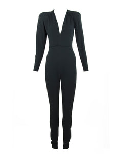 Stella McCartney Black Long Sleeve Jumpsuit