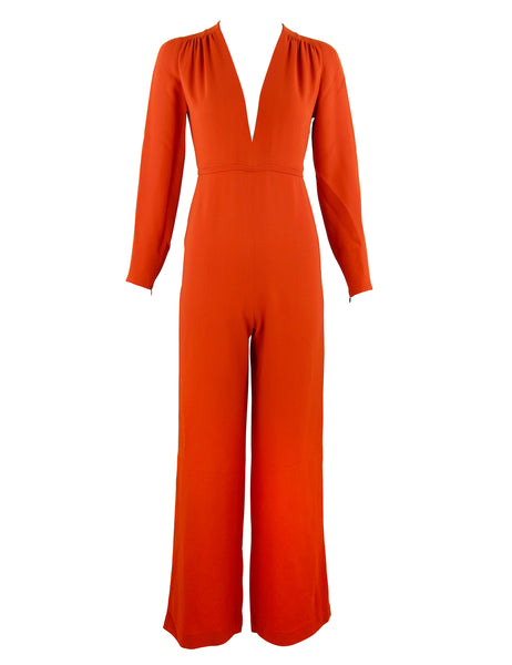 Stella McCartney Burnt Orange Long Sleeve Jumpsuit