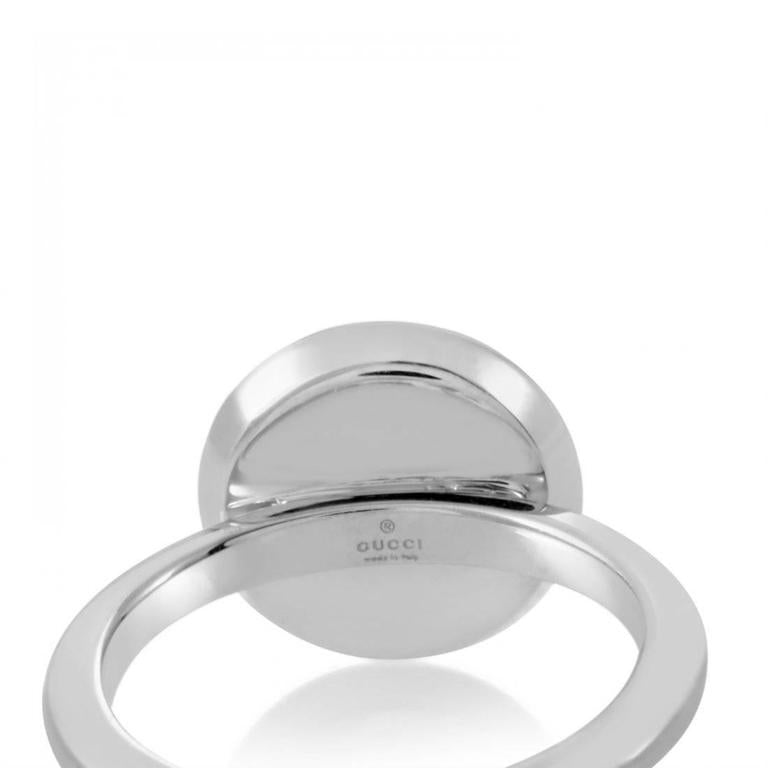 TOM FORD for GUCCI WHITE GOLD RING with DIAMONDS