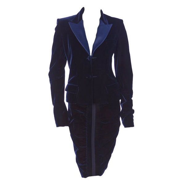 TOM FORD for YVES SAINT LAURENT BLUE VELVET SUIT