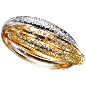 Cartier Trinity Gold Diamond Bracelets
