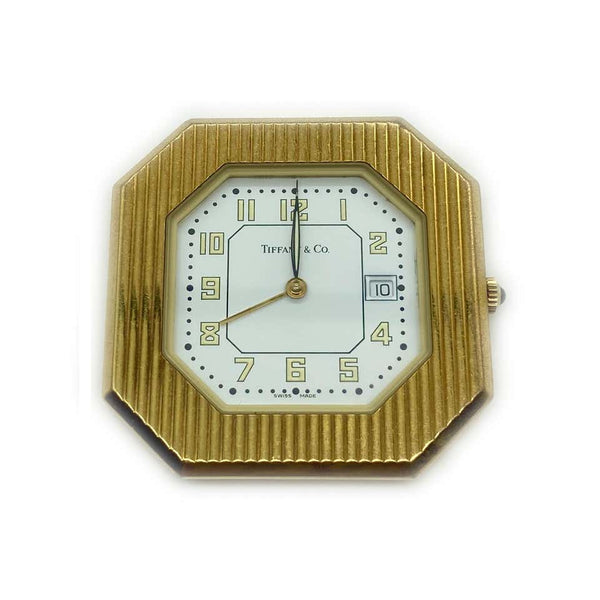 Tiffany & Co. Gold Travel Clock