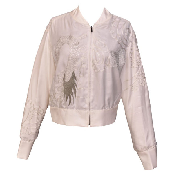 S / S 2003 Tom Ford for Gucci Kimono Inspired Embroidered Silk Jacket