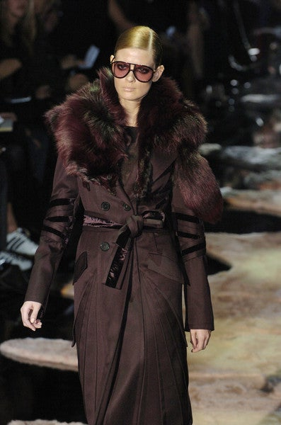 Tom Ford for Gucci coat with Fox Fur, F/W 2004