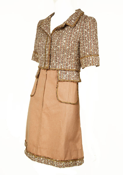 Chanel Tweed & Twill A-Line Dress