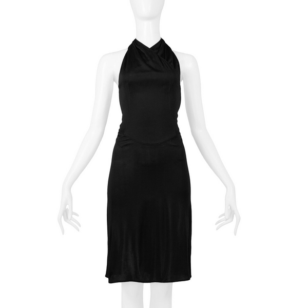 ALAIA TRIPLE STRAP OPEN BACK DRESS