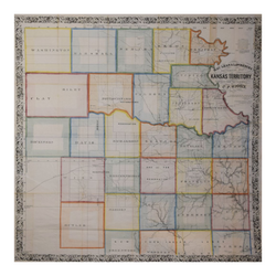 C.P. WIGGIN, MACLEAN AND LAWRENCES SECTIONAL MAP OF KANSAS TERRITORY…