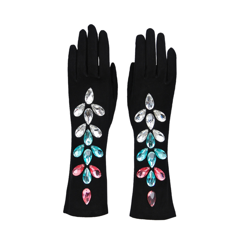 YSL CRYSTAL BEADED EVENING GLOVES