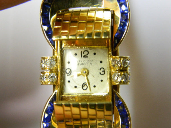 VAN CLEEF & ARPELS A Sophisticated Yellow Gold Bracelet Watch