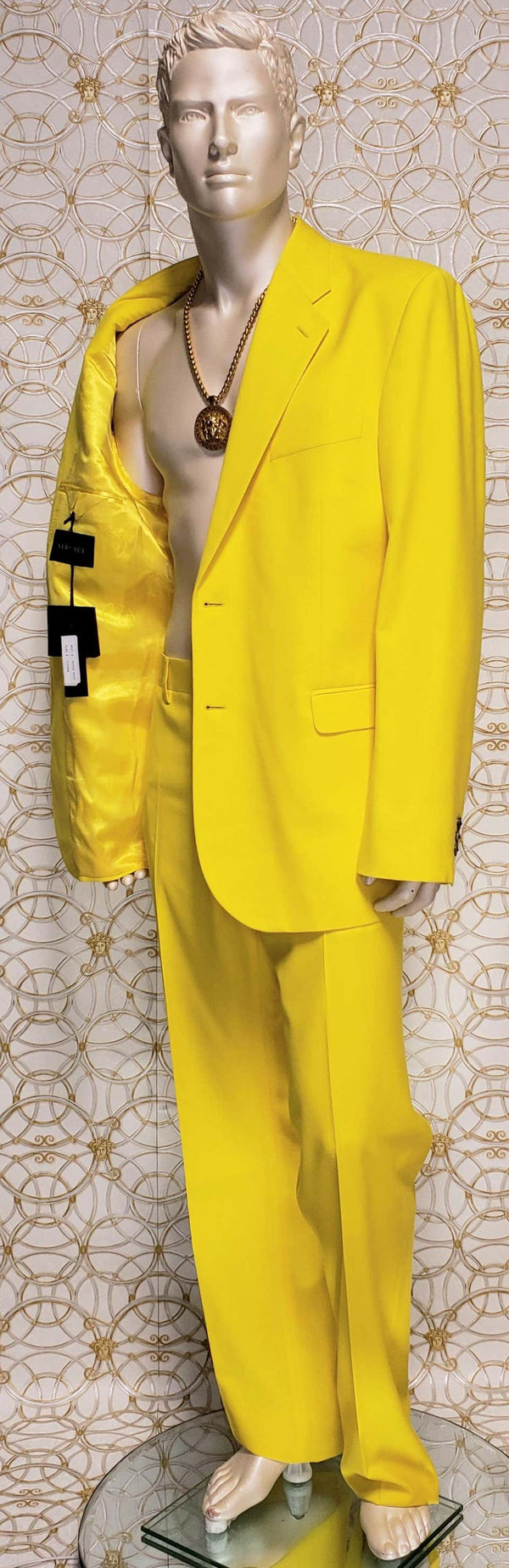 VERSACE YELLOW TAILOR MADE 2 piece SUIT