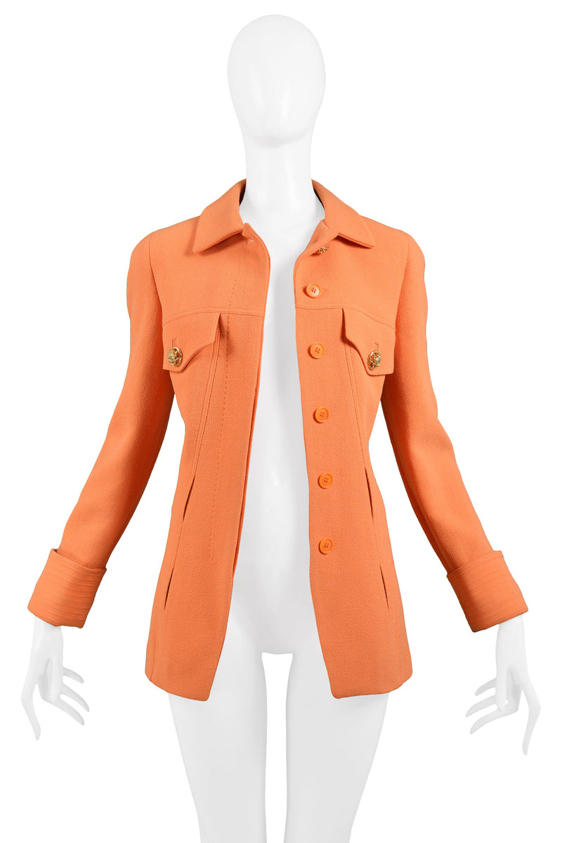 VERSACE ORANGE BLAZER JACKET 1991