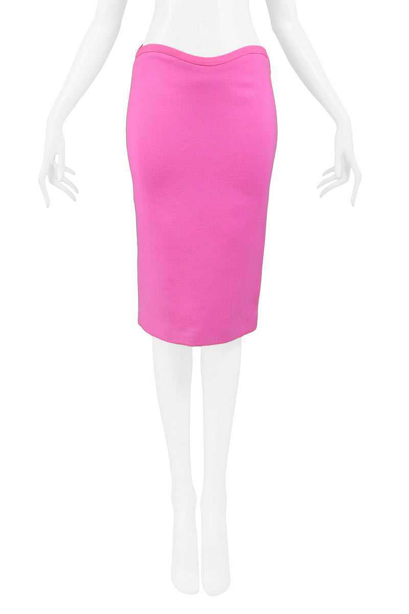 VERSACE PINK PENCIL SKIRT 2002