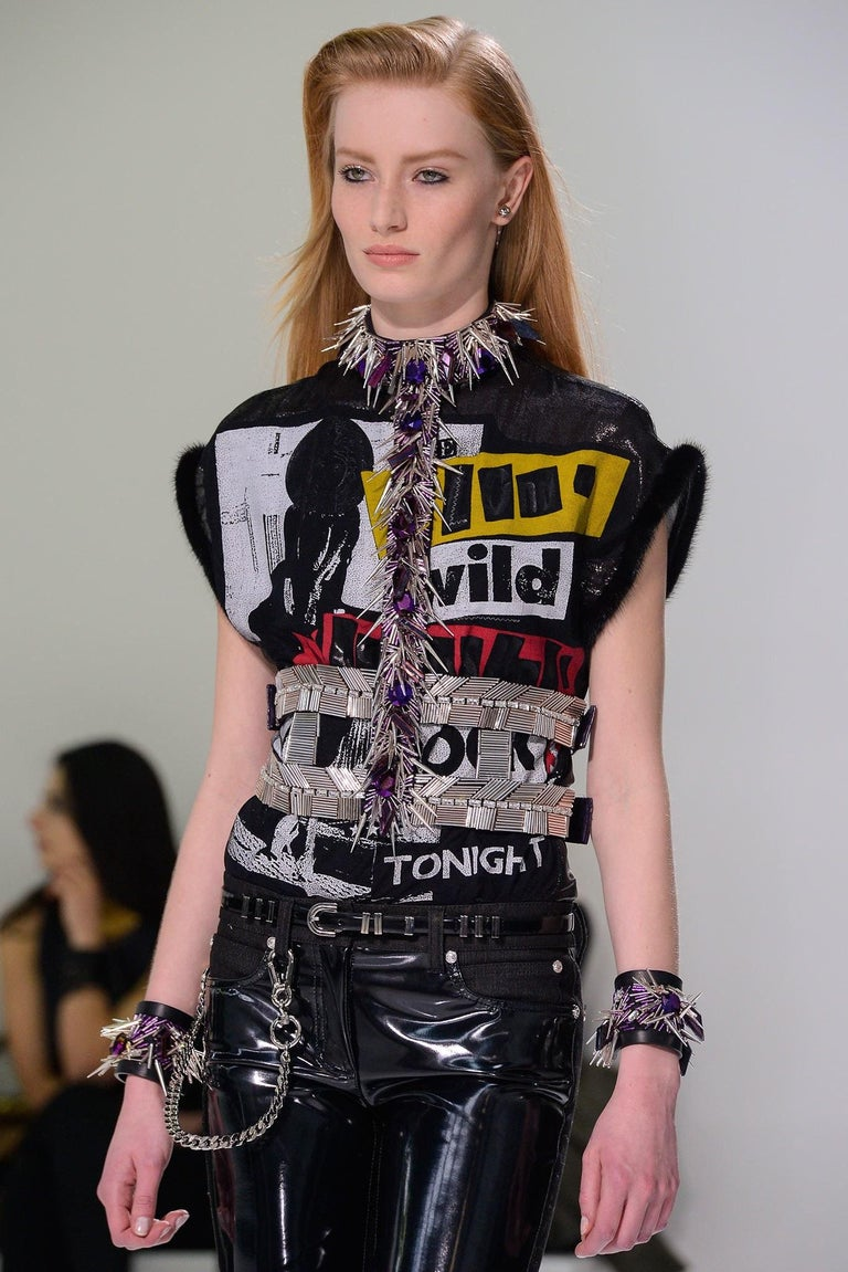 VERSACE T-strap Embellished Harness with Crystals