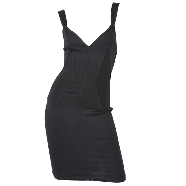 Vintage Alaia Fitted Black Strappy Dress
