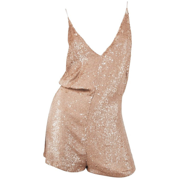 Valentino Blush Sequin Silk Romper
