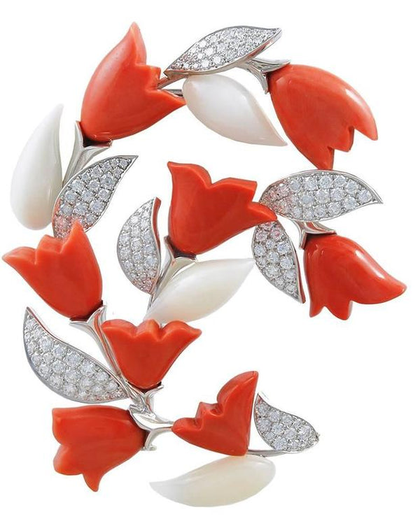 Van Cleef & Arpels Coral Diamond Gold Suite